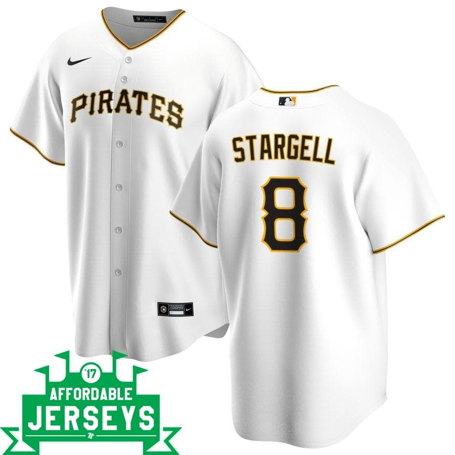 Willie Stargell Home Nike Replica Player Jersey - AffordableJerseys.com