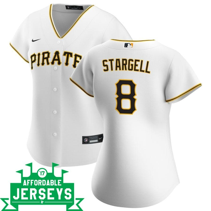 Willie Stargell Home Women's Nike Replica Player Jersey - AffordableJerseys.com