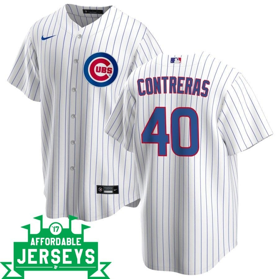 Wilson Contreras Home Nike Replica Player Jersey - AffordableJerseys.com