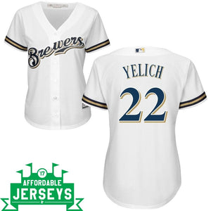 Christian Yelich Home Women's Cool Base Player Jersey - AffordableJerseys.com