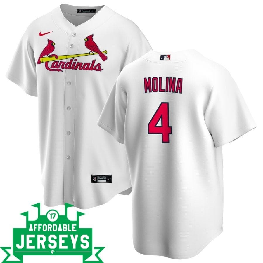 Yadier Molina Home Nike Replica Player Jersey - AffordableJerseys.com