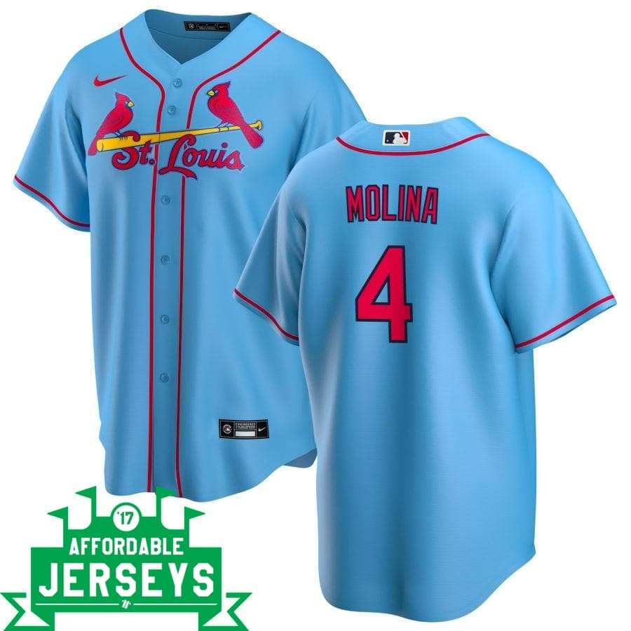 Yadier Molina Alternate Nike Replica Player Jersey - AffordableJerseys.com