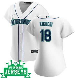 Yusei Kikuchi Home Women's Nike Replica Player Jersey - AffordableJerseys.com