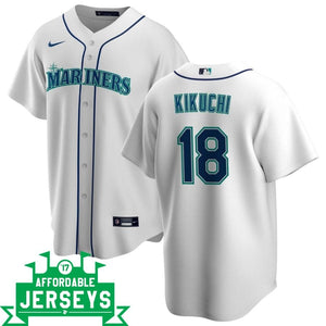 Yusei Kikuchi Home Nike Replica Player Jersey - AffordableJerseys.com
