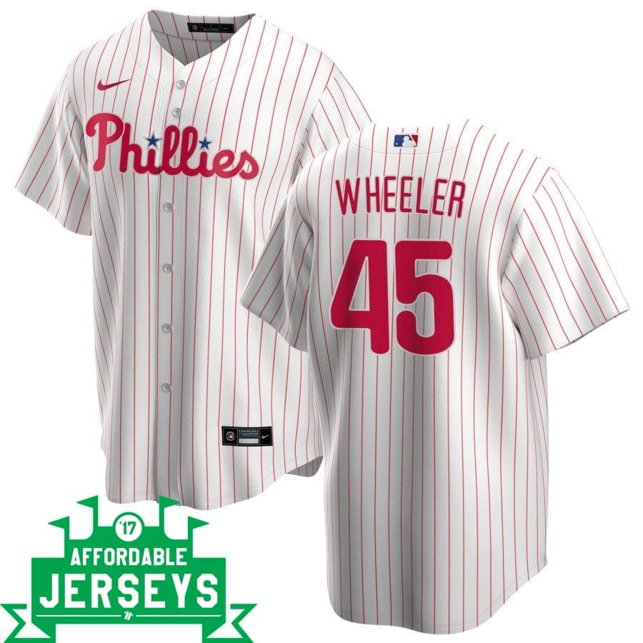 Zach Wheeler Home Nike Replica Player Jersey - AffordableJerseys.com
