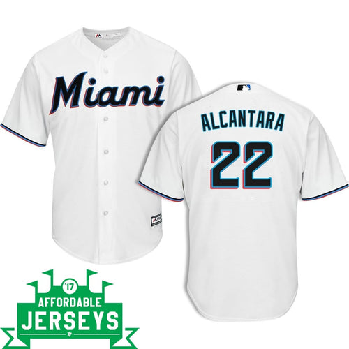 Sandy Alcántara Home Cool Base Player Jersey - AffordableJerseys.com