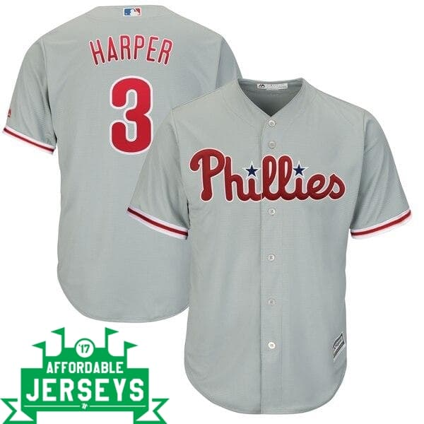 Bryce Harper Road Cool Base Player Jersey - AffordableJerseys.com