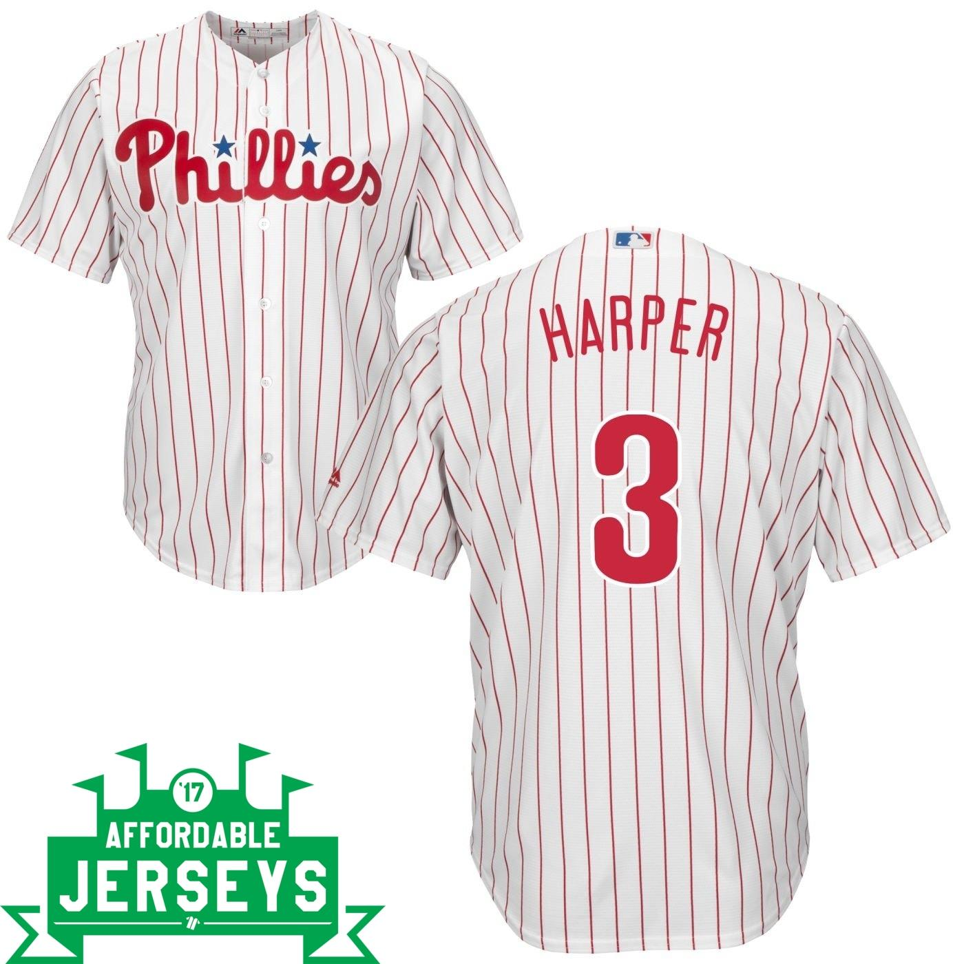 Bryce Harper Home Cool Base Player Jersey - AffordableJerseys.com