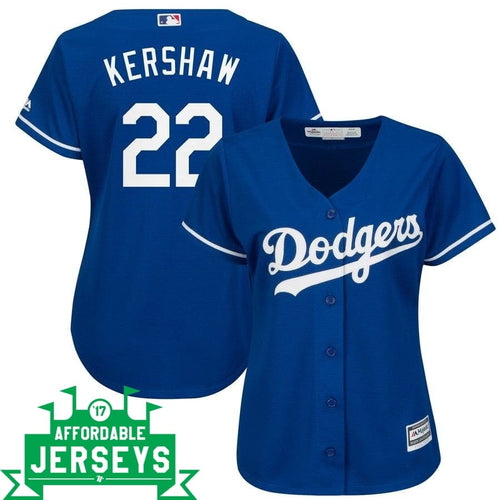 Clayton Kershaw Alternate Women's Cool Base Player Jersey - AffordableJerseys.com