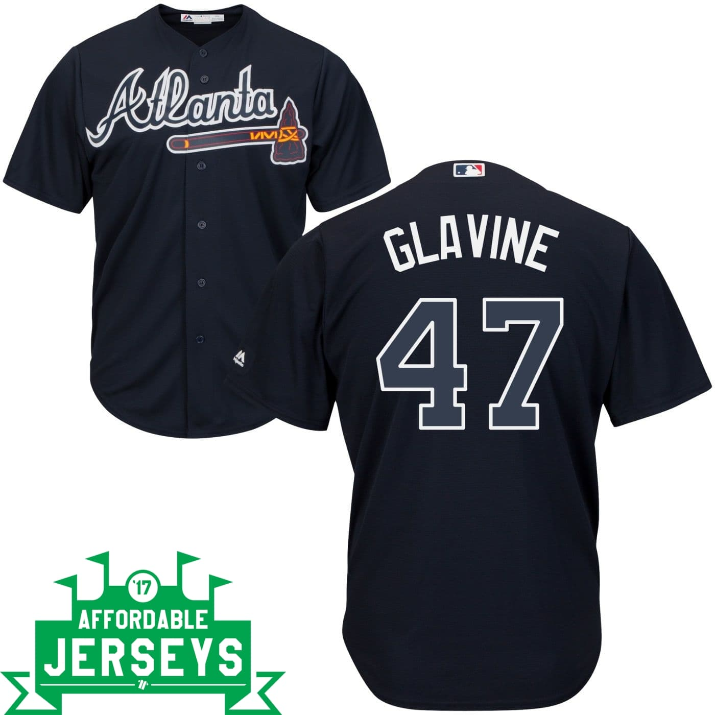 Tom Glavine Road Cool Base Player Jersey - AffordableJerseys.com