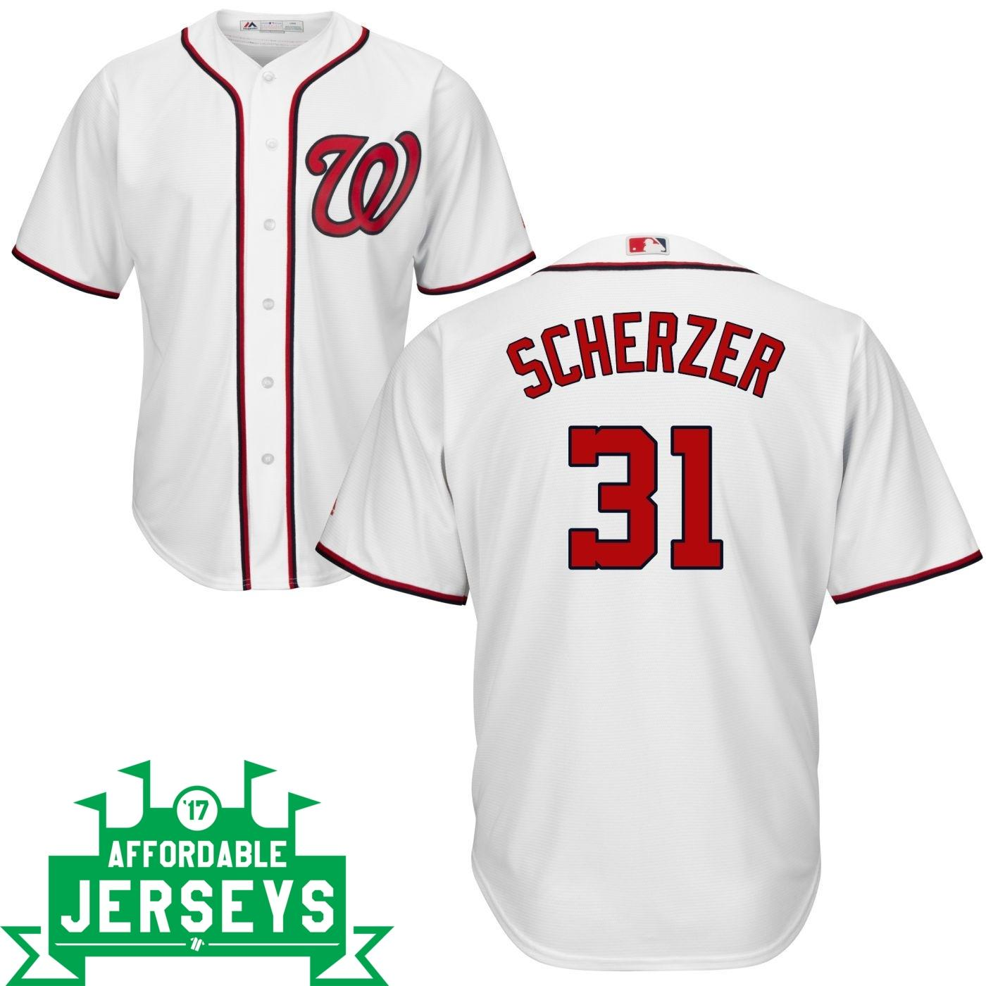 Max Scherzer Home Cool Base Player Jersey - AffordableJerseys.com