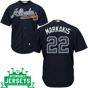 Nick Markakis Road Cool Base Player Jersey - AffordableJerseys.com