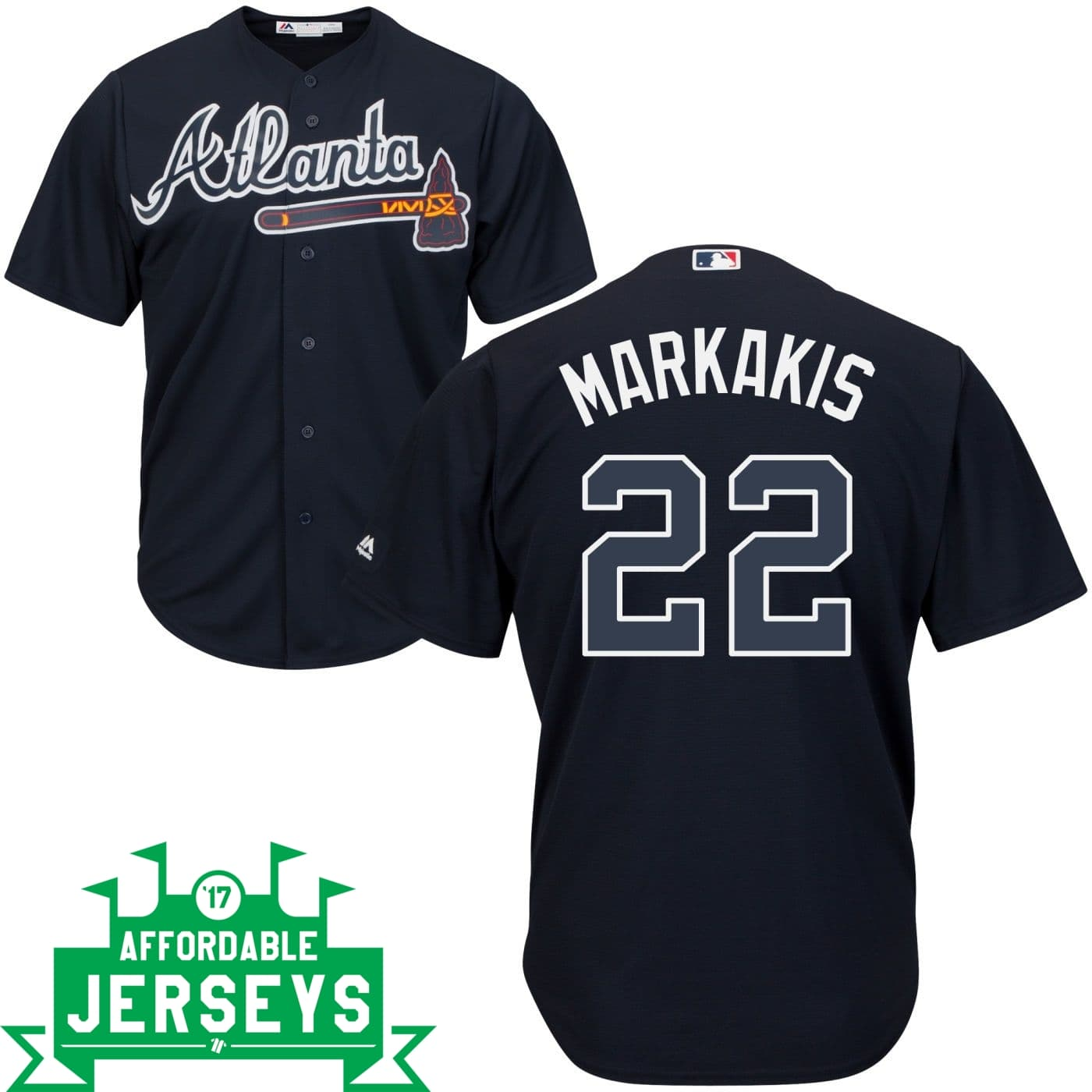Nick Markakis Road Cool Base Player Jersey