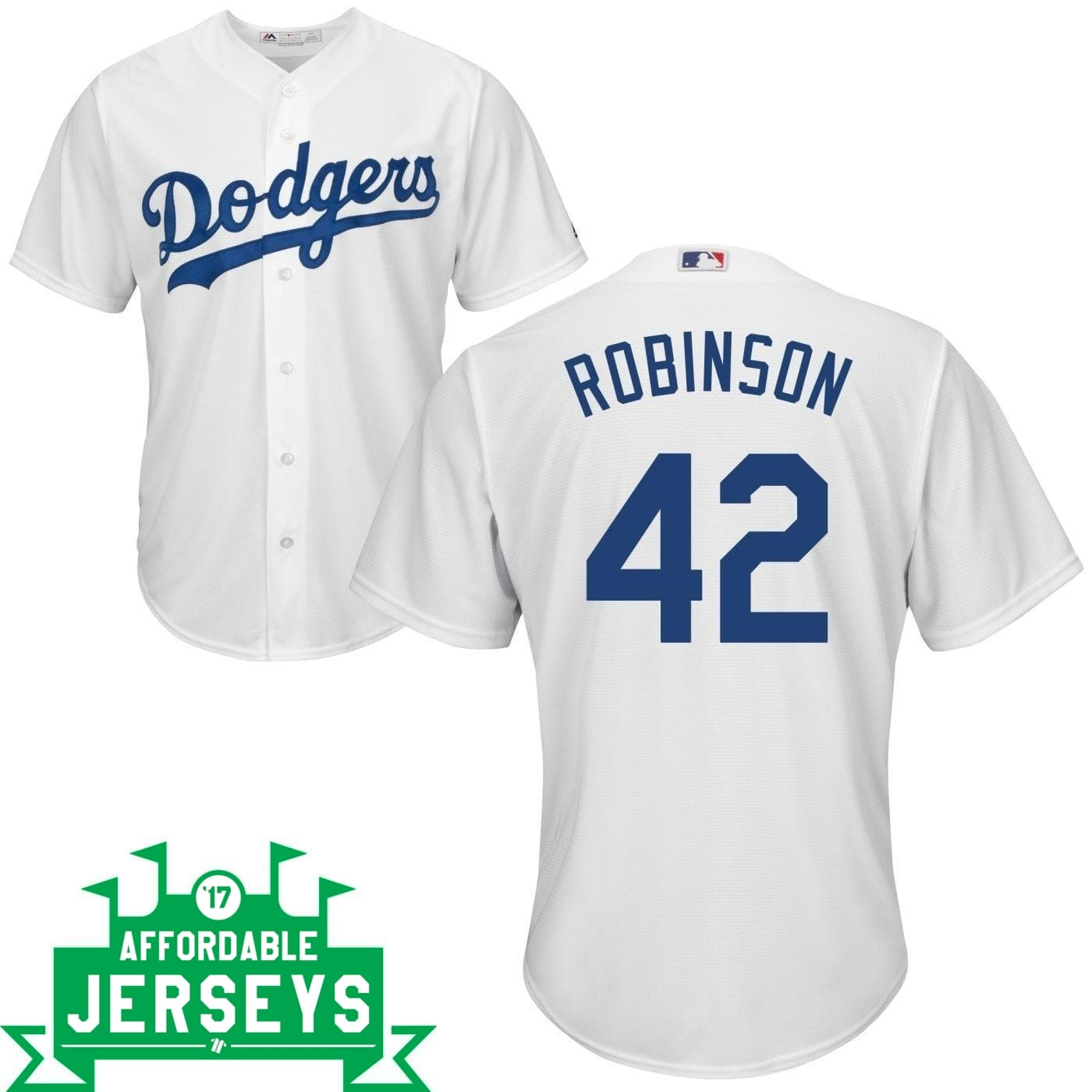 Jackie Robinson Youth Home Cool Base Player Jersey - AffordableJerseys.com
