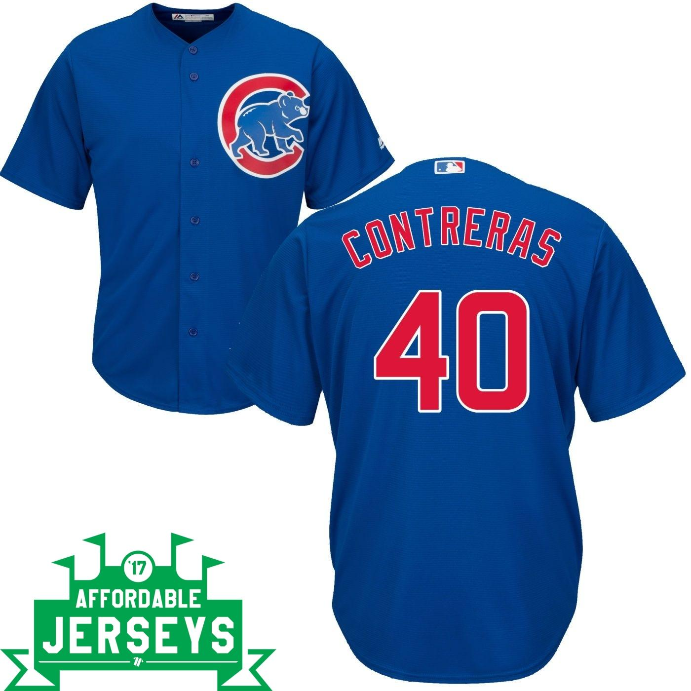 Wilson Contreras Road Cool Base Player Jersey - AffordableJerseys.com