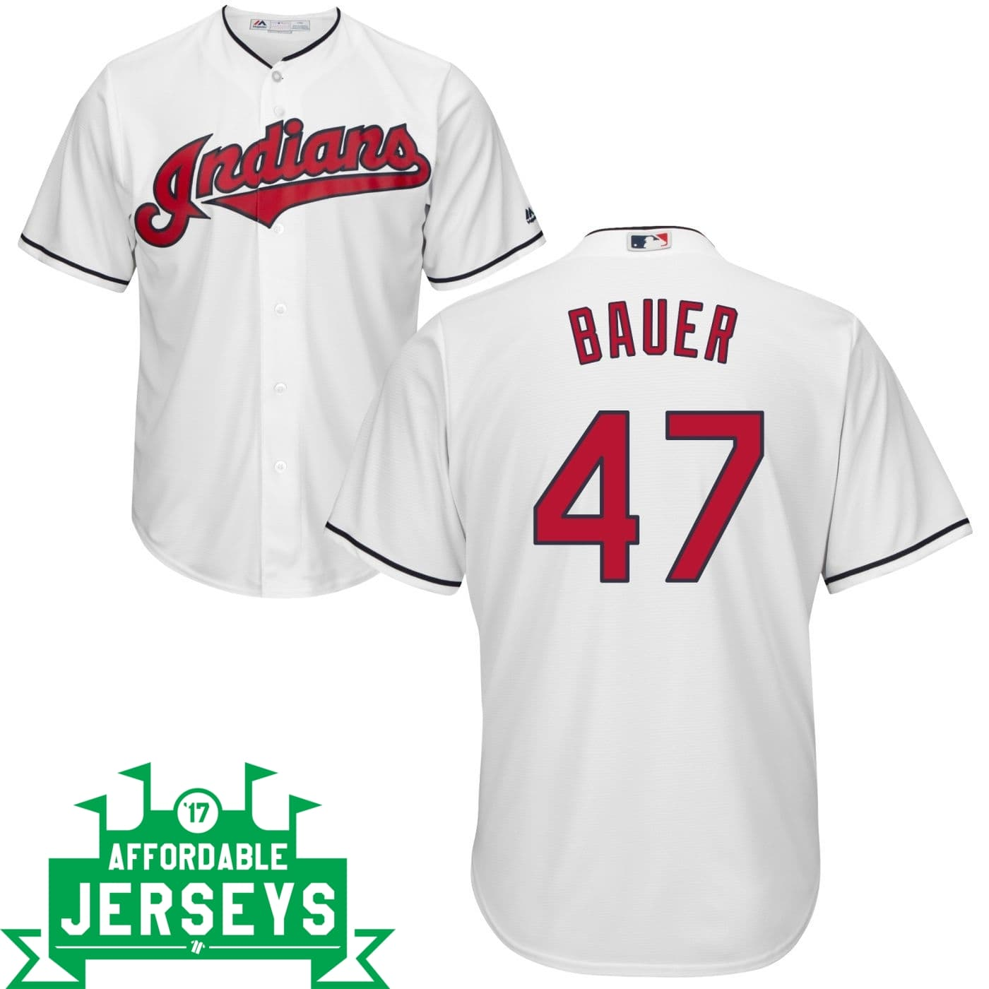 Trevor Bauer Home Cool Base Player Jersey - AffordableJerseys.com