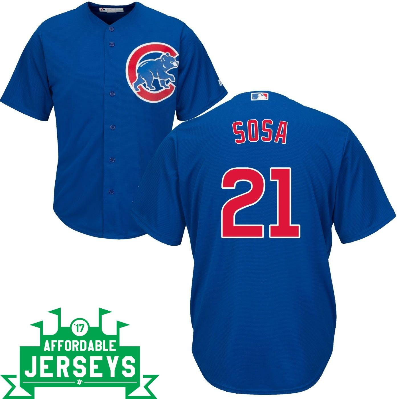 Sammy Sosa Road Cool Base Player Jersey - AffordableJerseys.com