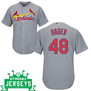 Harrison Bader Road Cool Base Player Jersey
