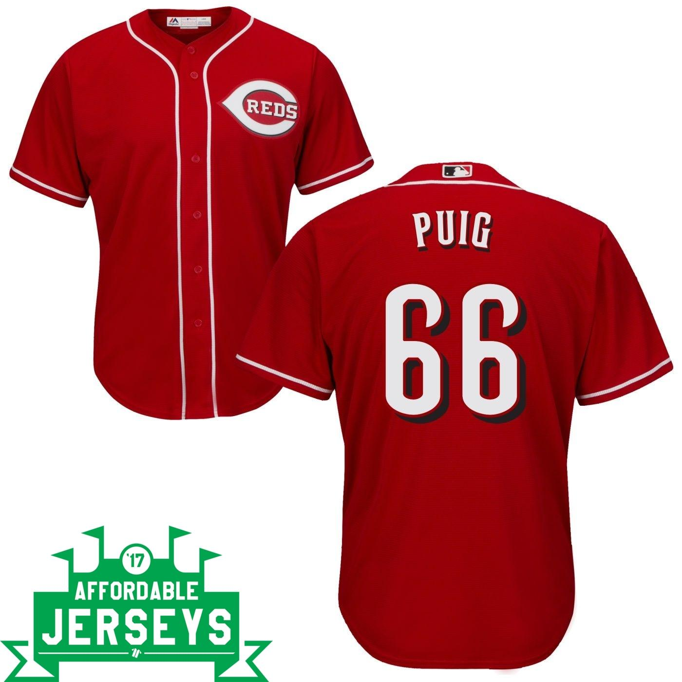 Yasiel Puig Road Cool Base Player Jersey - AffordableJerseys.com