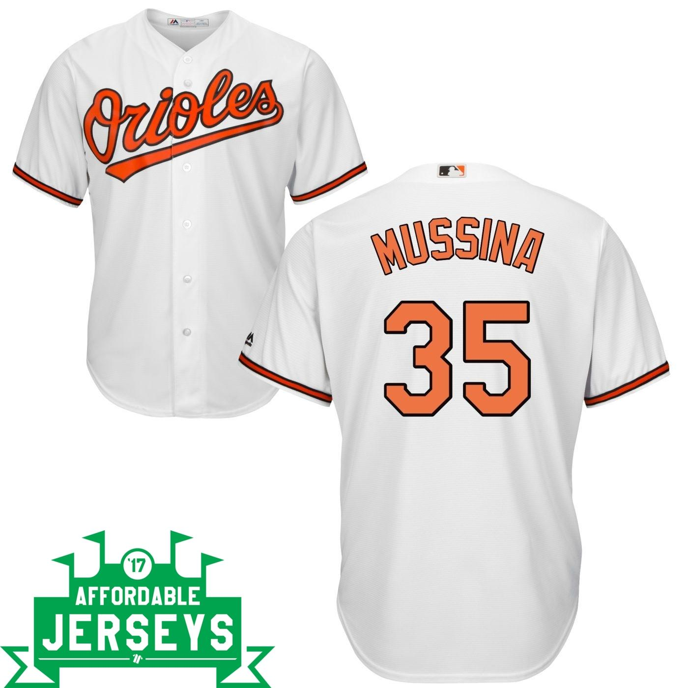 Mike Mussina Home Cool Base Player Jersey - AffordableJerseys.com