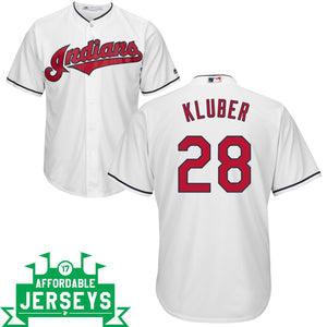 Corey Kluber Home Cool Base Player Jersey - AffordableJerseys.com