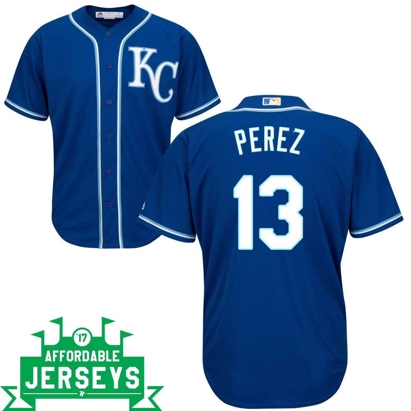Salvador Perez Road Cool Base Player Jersey