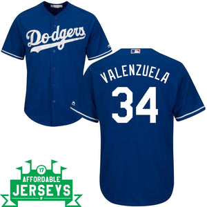 Fernando Valenzuela Alternate Cool Base Player Jersey