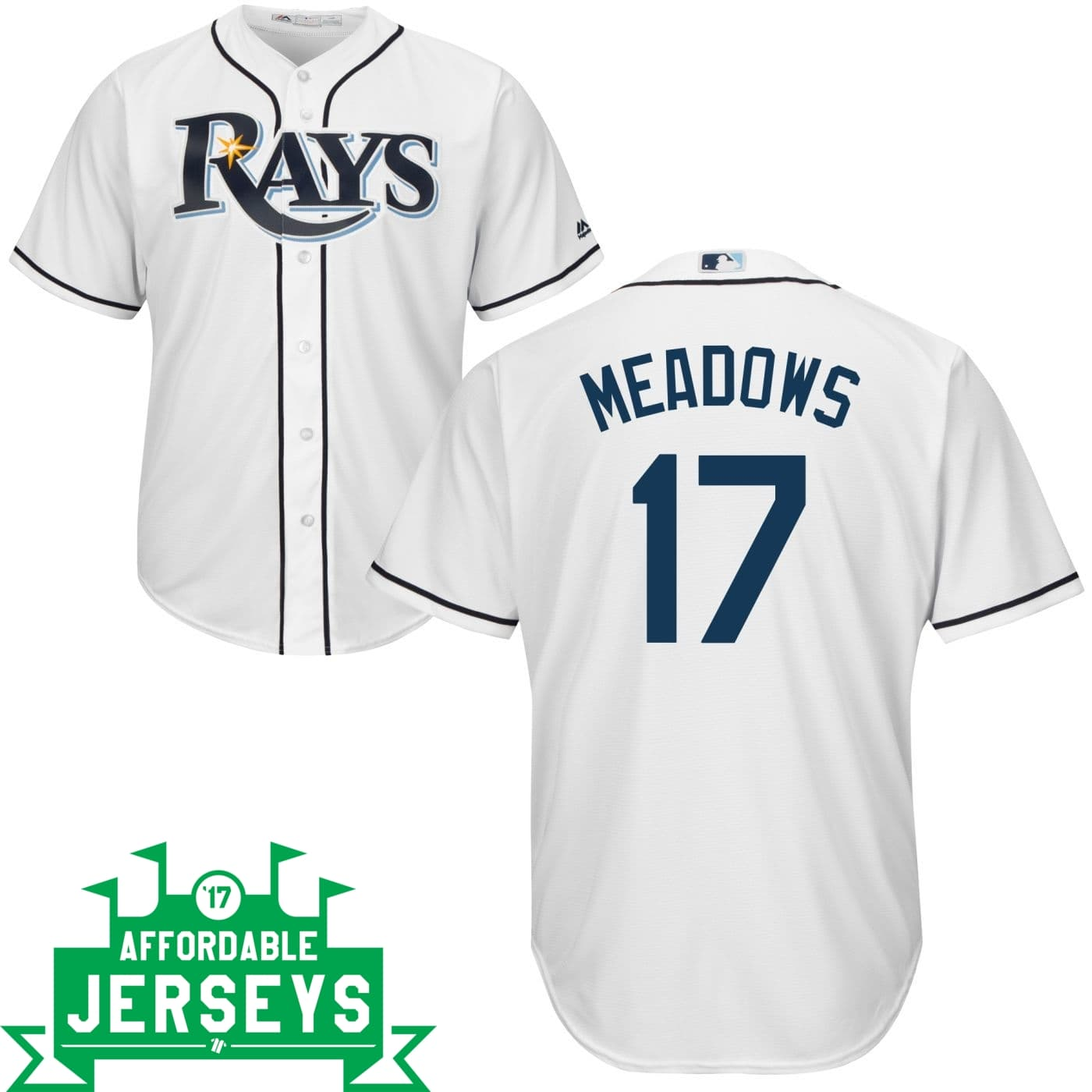 Austin Meadows Home Cool Base Player Jersey - AffordableJerseys.com
