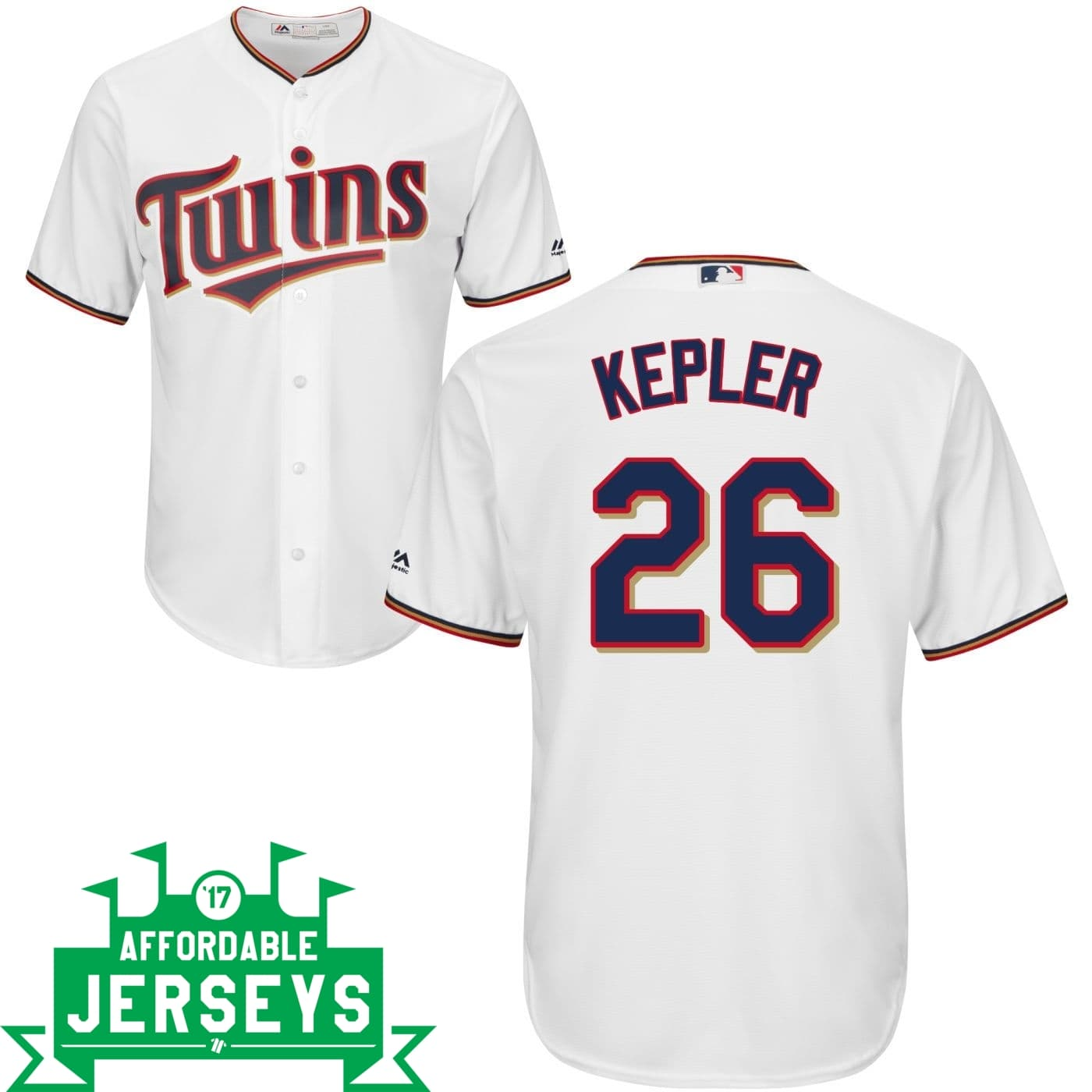 Max Kepler Home Cool Base Player Jersey - AffordableJerseys.com