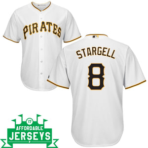 Willie Stargell Home Cool Base Player Jersey - AffordableJerseys.com