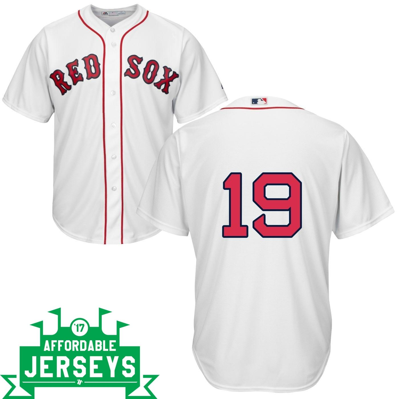 Jackie Bradley Home Cool Base Player Jersey - AffordableJerseys.com