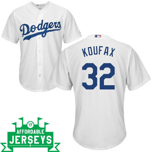 Sandy Koufax Youth Home Cool Base Player Jersey - AffordableJerseys.com