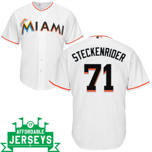 Drew Steckenrider Home Cool Base Player Jersey - AffordableJerseys.com