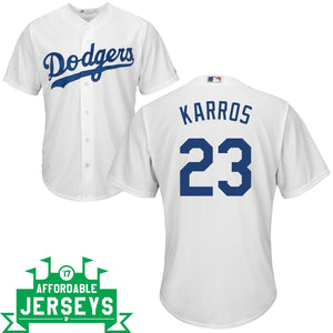 Eric Karros Home Cool Base Player Jersey - AffordableJerseys.com