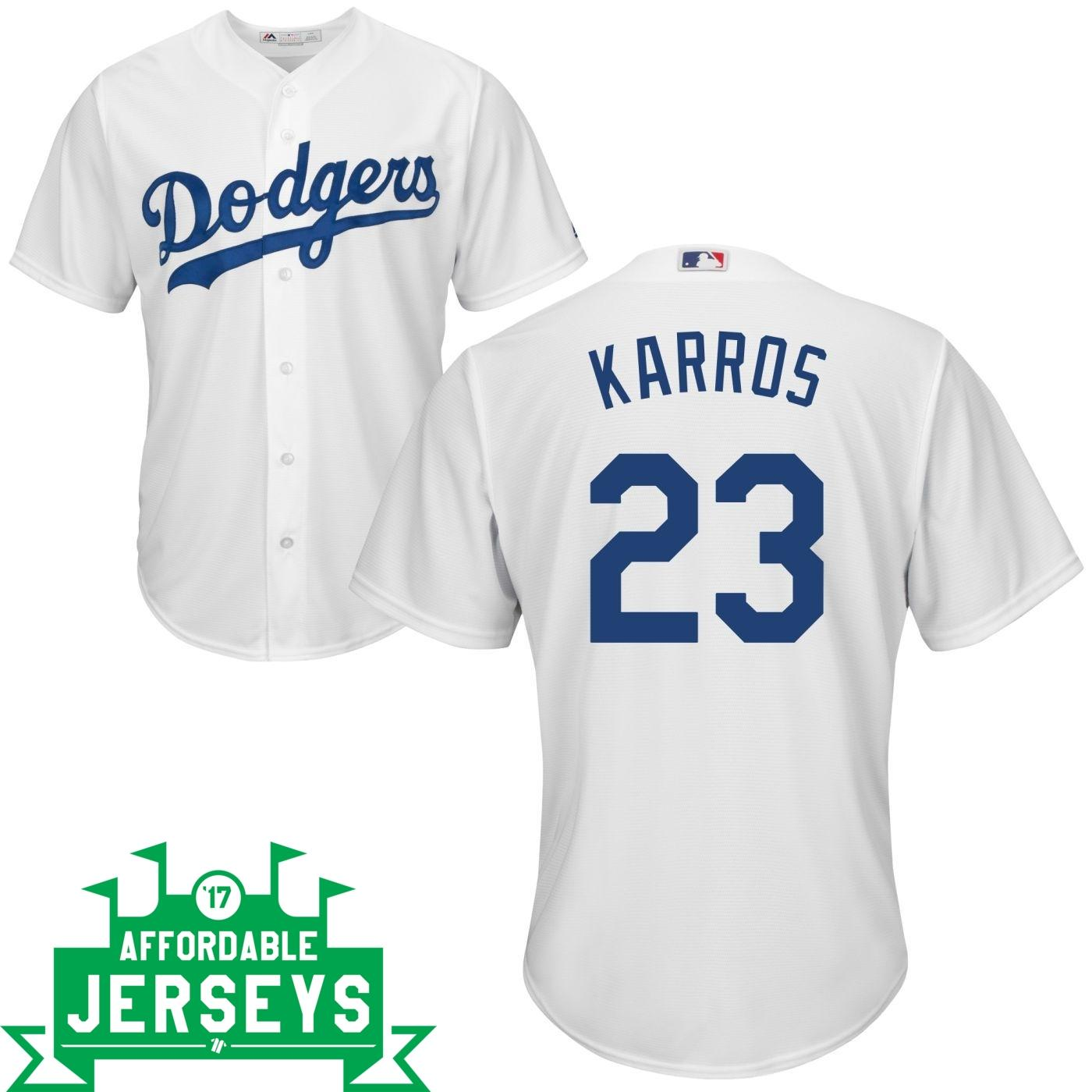 Eric Karros Home Cool Base Player Jersey