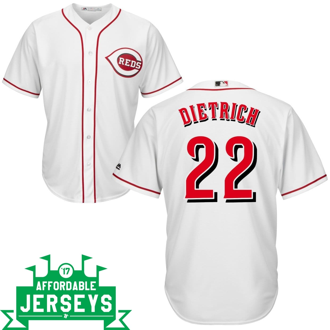 Derek Dietrich Home Cool Base Player Jersey - AffordableJerseys.com