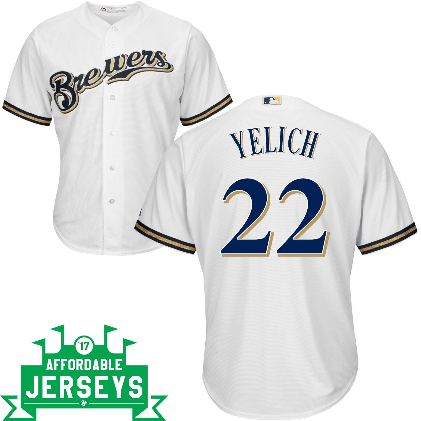 Christian Yelich Home Cool Base Player Jersey - AffordableJerseys.com