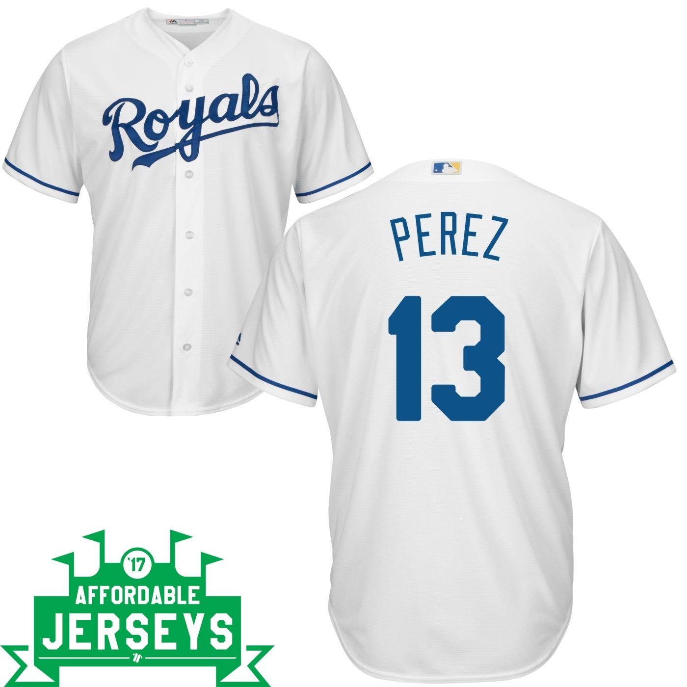 Salvador Perez Home Cool Base Player Jersey - AffordableJerseys.com