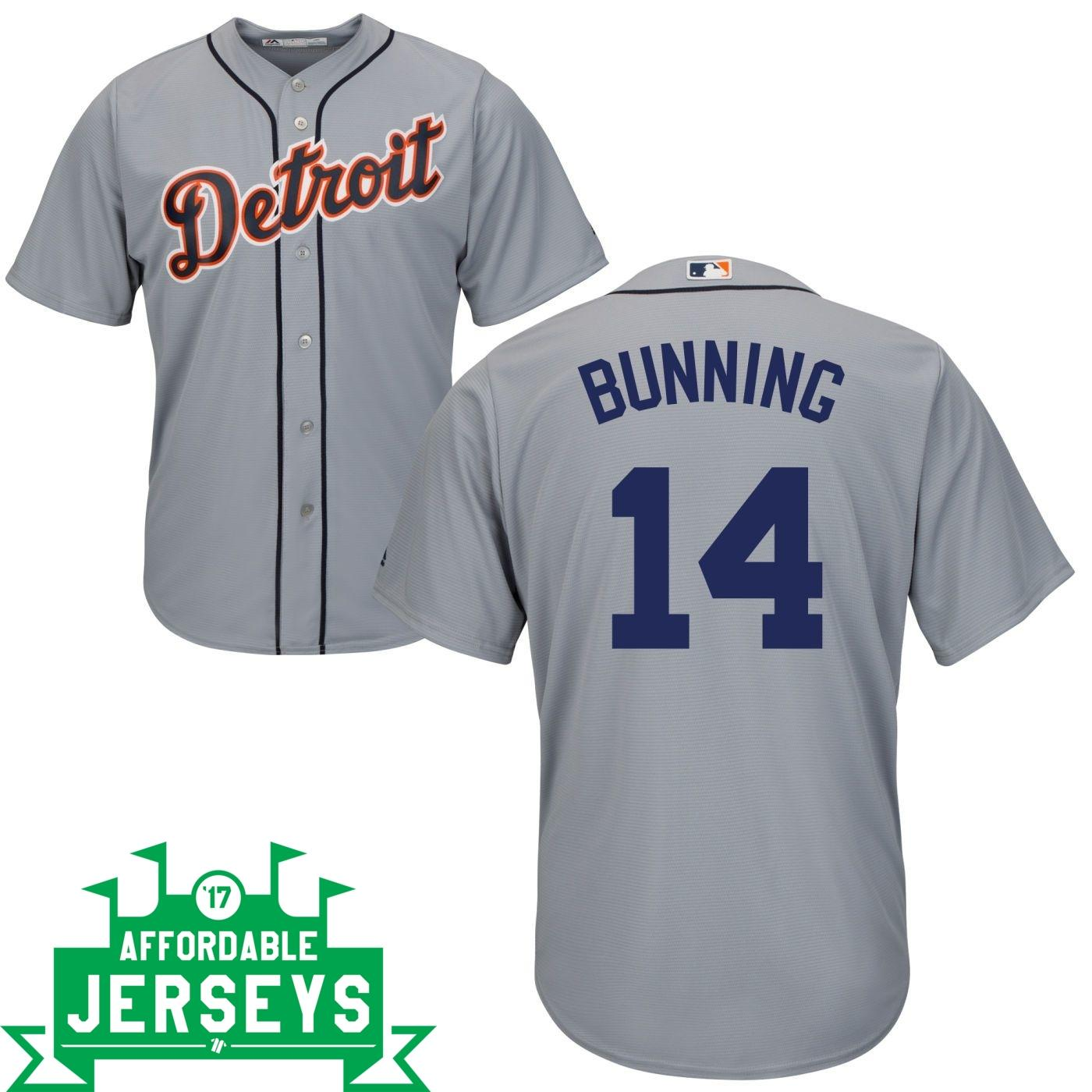 Jim Bunning Road Cool Base Player Jersey - AffordableJerseys.com