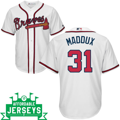 Greg Maddux Home Cool Base Player Jersey - AffordableJerseys.com