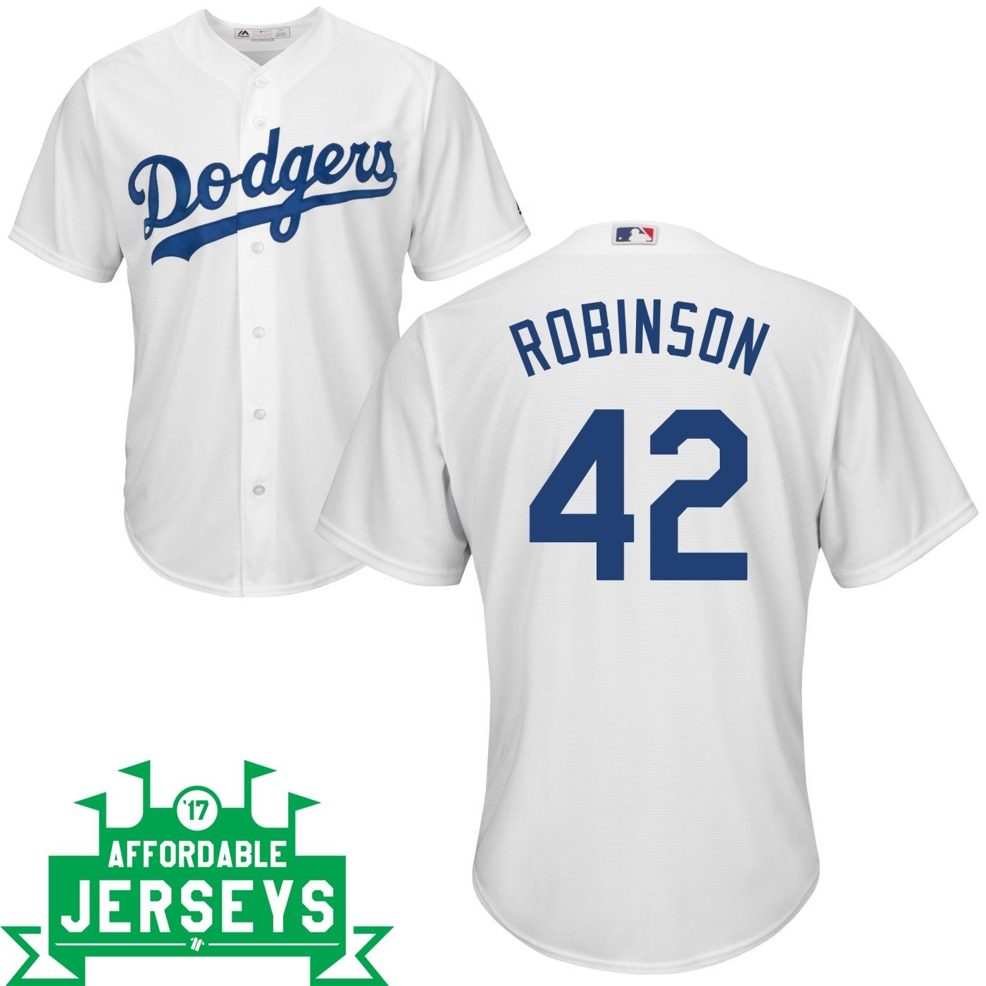 Jackie Robinson Home Cool Base Player Jersey - AffordableJerseys.com