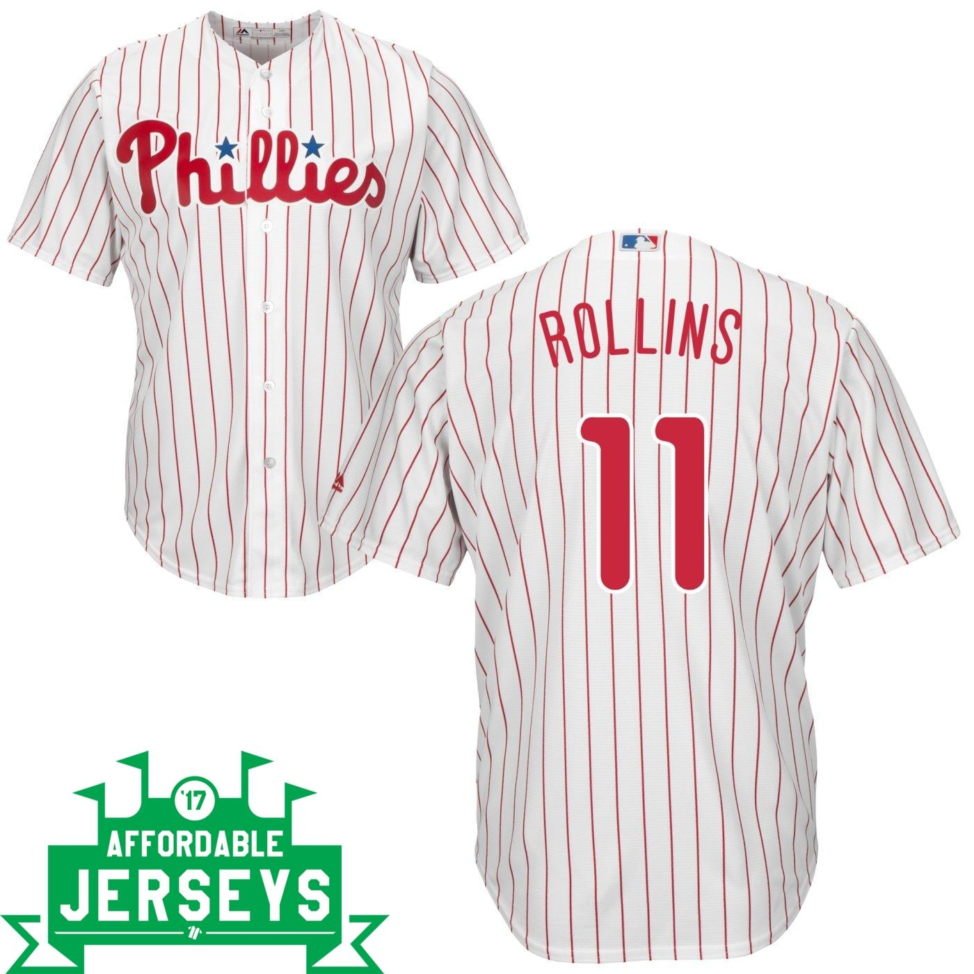 Jimmy Rollins Home Cool Base Player Jersey - AffordableJerseys.com
