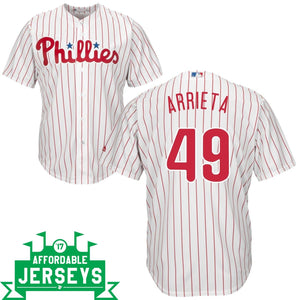 Jake Arrieta Home Cool Base Player Jersey - AffordableJerseys.com