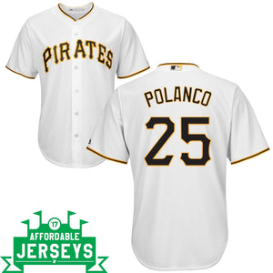 Gregory Polanco Home Cool Base Player Jersey - AffordableJerseys.com