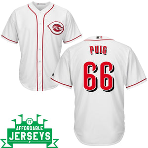 Yasiel Puig Home Cool Base Player Jersey - AffordableJerseys.com