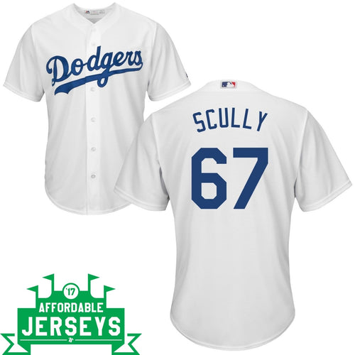 Vin Scully Home Cool Base Player Jersey