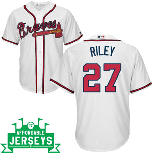 Austin Riley Home Cool Base Player Jersey - AffordableJerseys.com