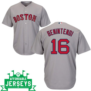 Andrew Benintendi Road Cool Base Player Jersey - AffordableJerseys.com
