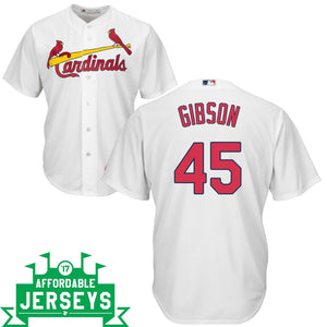 Bob Gibson Home Cool Base Player Jersey - AffordableJerseys.com