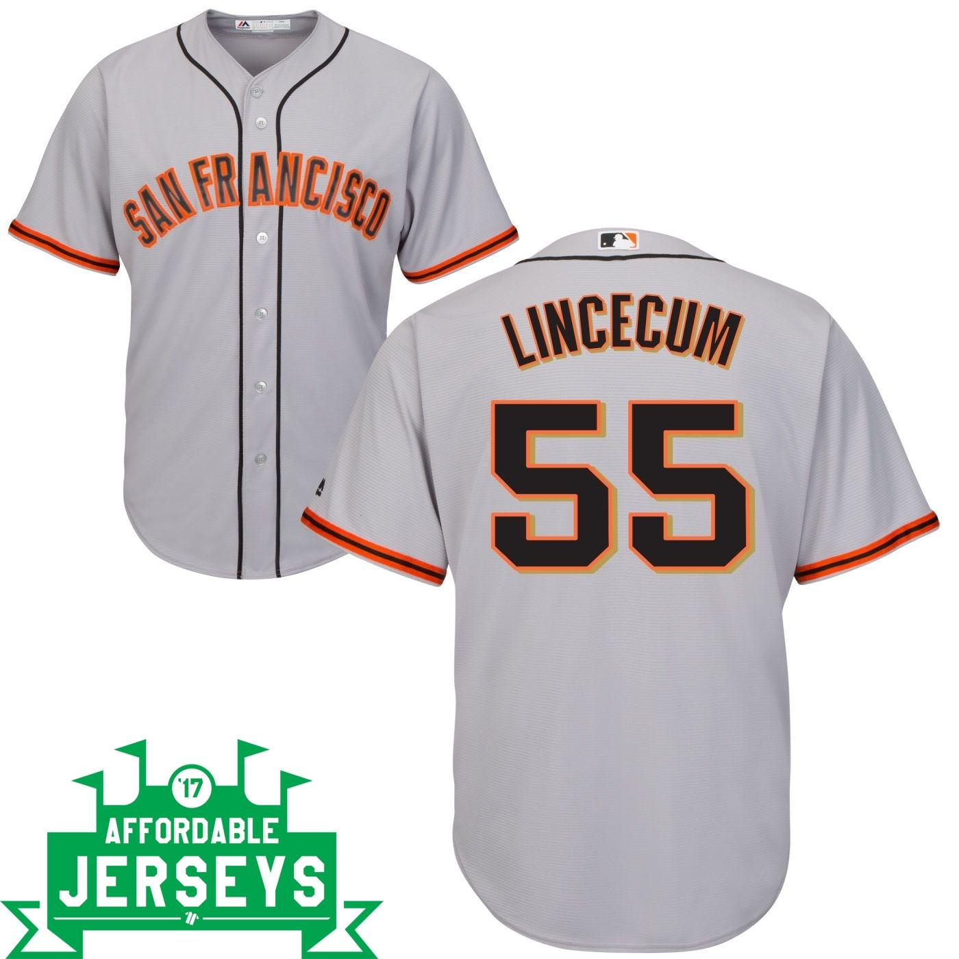Tim Lincecum Road Cool Base Player Jersey - AffordableJerseys.com